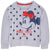 Disney Minnie Mouse Girls Jumper, 100% Cotton with Classic Picture and Bow 2-8 Years - Grey