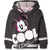 Disney Mickey Mouse Girls Cropped Hoodie, Sweatshirt Classic Picture 2-8 Years - Grey