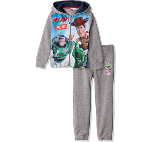 Disney Pixar Toy Story 4 Tracksuit Set of Hoodie and Sweatpants 2-8 Years - Grey