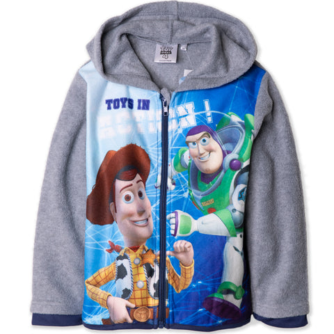 Disney Pixar Toy Story 4 Warm Polar Fleece Jacket, Hoodie 2-8 Years - Grey