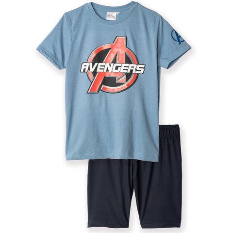 The Avengers - Marvel Men's Pyjamas, T-Shirt and Shorts Set S - XL - Blue