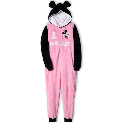 Disney Mickey Mouse Women's Onesie / All in One Loungewear  - Pink