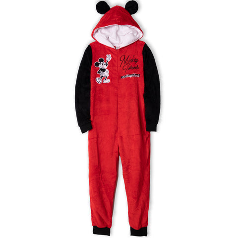 Disney Mickey Mouse Women's Onesie / All in One Loungewear  - Red