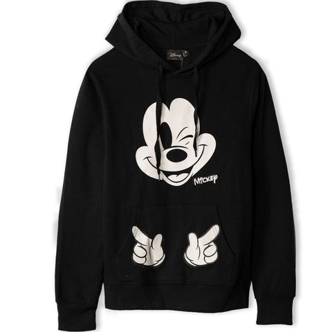Disney Mickey Mouse Women's Teenager's Hoodie Hooded Sweatshirt  - Black