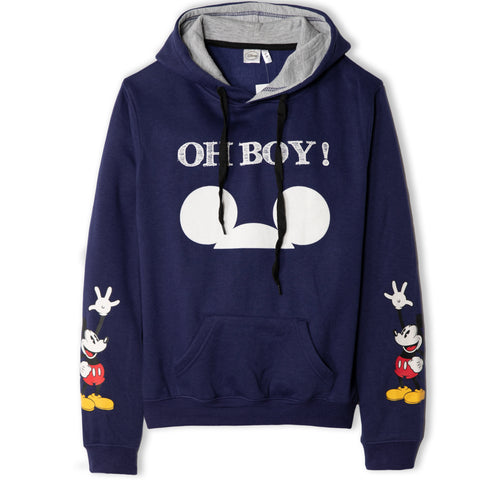 Disney Mickey Mouse Women's Teenager's Hoodie Hooded Sweatshirt  - Navy