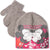 Disney Minnie & Mickey Mouse baby girls winter set - hat and gloves 0-2 Years - Grey