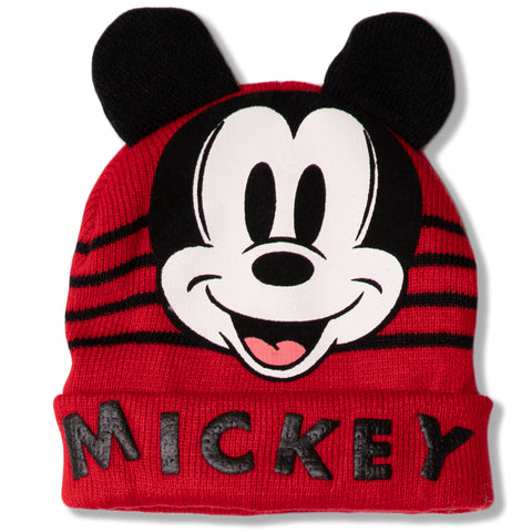 Disney Mickey Mouse baby boys, girls winter beanie hat 0-2 Years - Red