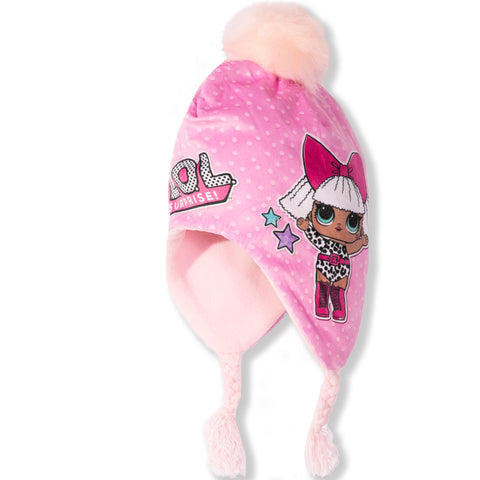 L.O.L. Surprise! Lol Winter Peruvian / Trapper Hat - 2-8 years - Pink