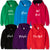 Personalised Name Among Us Game Boys Girls Hoodie GLOW IN THE DARK for 3-13 years