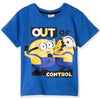 Minions Boy's Short Sleeve 100% Cotton T-Shirt 3-9 yrs - Blue