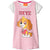 Paw Patrol Short Sleeve 100% Cotton Nightdress 2-8 years - Grey/Pink