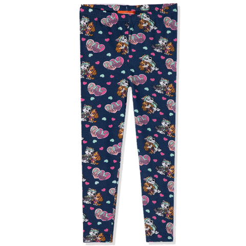 Paw Patrol Girls Leggings Soft Cotton Fabric, Characters Pattern 3-9 Years