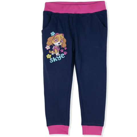 Paw Patrol Girls Warm Joggers, Trousers Made with Cotton Fabric 2-8 Years - Navy