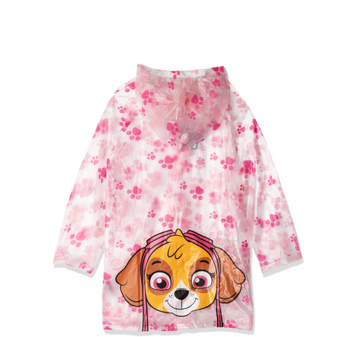 Paw Patrol - Skye Character Rain Coat, Hooded Sleeved Rain Poncho 2-8 yrs - Transparent