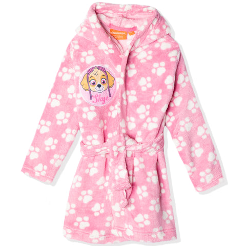 Paw Patrol Coral Fleece Hooded Bathrobe/ Dressing Gown for girls 2-9 years - Pink