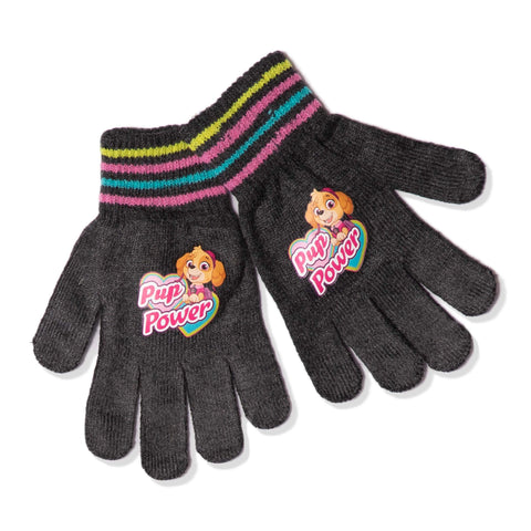 Paw Patrol Girls Winter Acrylic Gloves 1 Pair Set - One Size - 2-10 years
