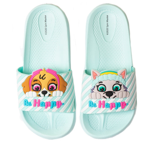 Paw Patrol Girl's Sliders / Flip Flops Shoes Waterproof - Blue / Skye & Everest