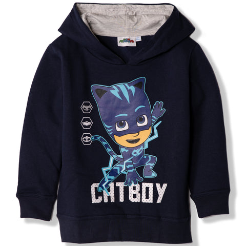 PJ Masks Boys Girls Hoodie with CatBoy Character 2-8 years - Blue