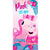 Peppa Pig Girls Microfibre Beach Bath Towel 70 X 140 cm - Pink