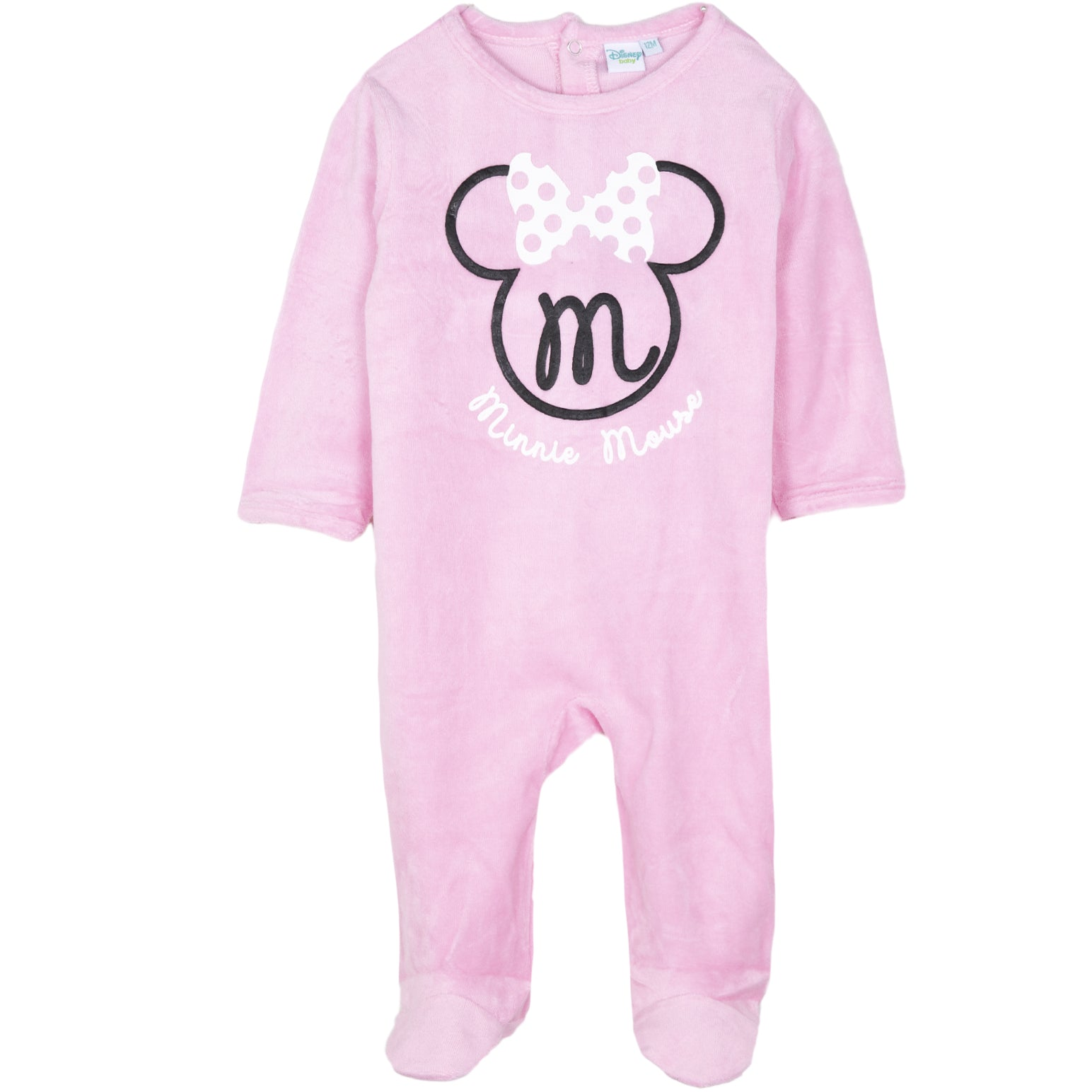 3-24 Months Disney Baby Girls Minnie Mouse Long Sleeved Pink Romper