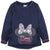 Disney Minnie Mouse Girls Sparkle Jumper, Sweatshirt 2-8 Years - Navy