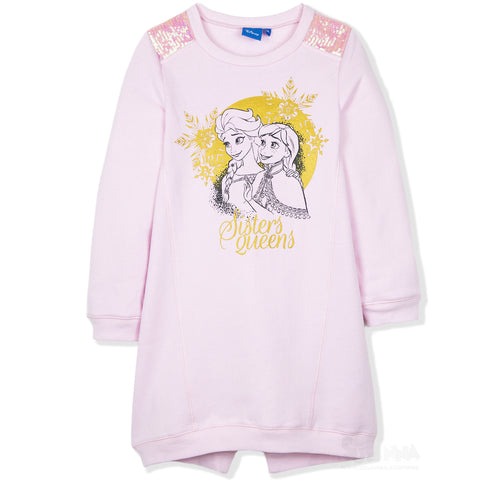 Disney Frozen Girls Jumper Style Tunic, Warm Winter Dress 3-8 Years - Pink