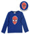 Spiderman Boys Long Sleeve Top with Reversible Sequins 2-8 years - Blue