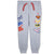 DC SuperHero Girls Warm Joggers, Trousers Fleece Fabric 2-8 Years - Grey
