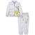 Disney Princess Girls Warm Tracksuit, Outfit Clothes Set 95% Cotton 2-6 Years - Grey