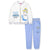 Disney Princess Girls Warm Tracksuit, Outfit Clothes Set 95% Cotton 2-6 Years - White, Cinderella