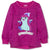 Hatchimals Girls Patterned Jumper, Fleece Sweatshirt 2-6 Years - Fushia
