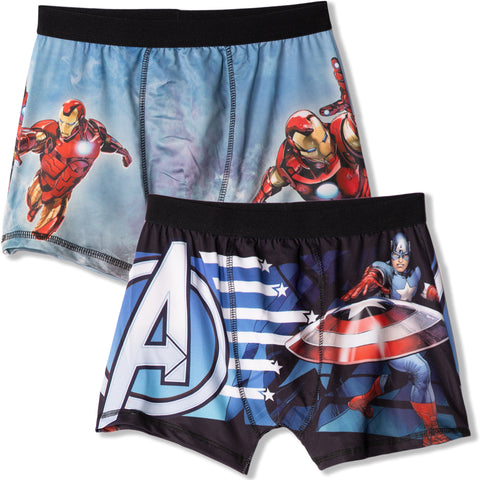 The Avengers Marvel Men's Hipster Boxers, Underwear S, M, L, XL - 2-Pack