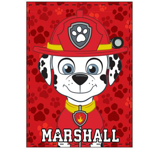 Paw Patrol Boys Blanket Soft Fluffy Coral Fleece Character 120 x 90 cm - Marshall