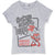 Disney Minnie Mouse Girls Short Sleeve Cotton Top T Shirts 2-8 Yrs - Grey