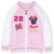 Disney Minnie Mouse Girls Baseball, Jumper Sweatshirt 2-8 Years - Pink