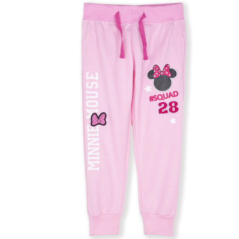 Disney Minnie Mouse Girls Joggers, Trousers Bottoms 2-8 Years - Pink