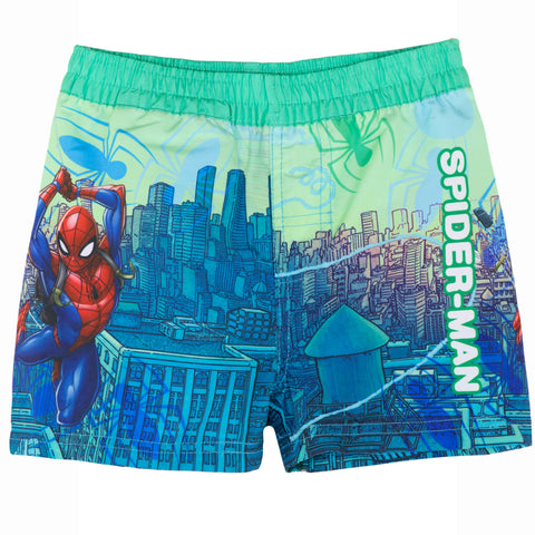 Spiderman Marvel Boys Swimming Shorts, Trunks 2-8 Years - Green