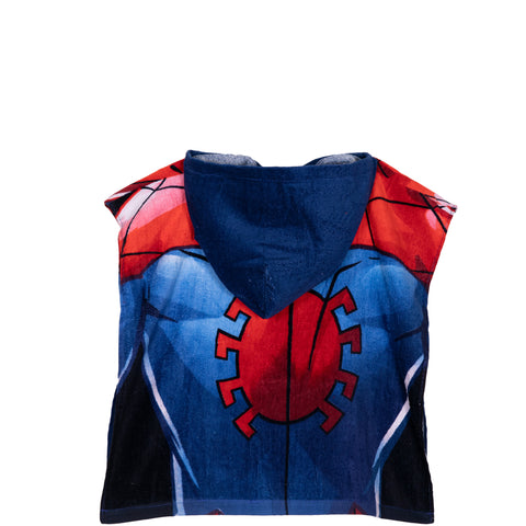 Spiderman Marvel Boy's Hooded Poncho Towel 100% Cotton 1-6 Years - Navy
