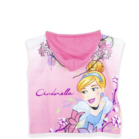 Disney Princess Girls Hooded Poncho Towel Microfiber 1-6 Years - Pink