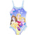 Disney Princess Girls One Piece Swimsuit, Swimming Costume 2-6 Years - Blue