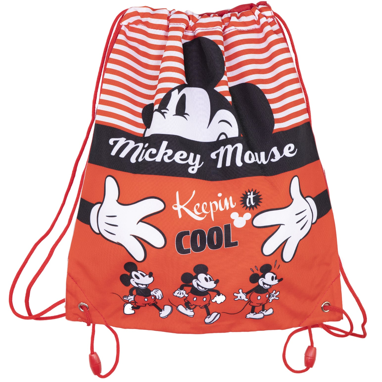Disney Mickey Mouse Kids Drawstring Swimming/Gym/School Bag