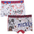 Disney Mickey Mouse Boys Underwear Set, 2-Pack of Boxers 2-8 Years - Grey/White