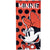 Disney Minnie & Mickey Mouse Cotton Beach Bath Towel 70 X 140 cm - Red