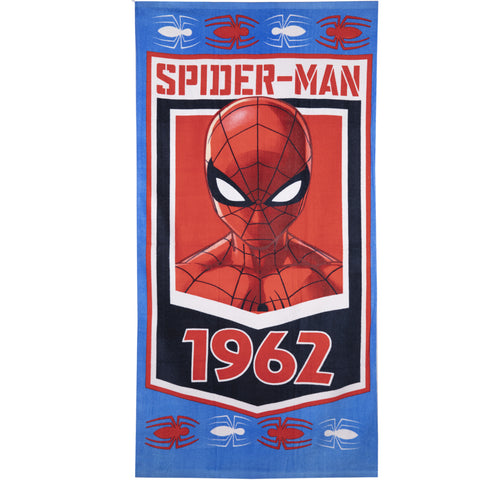 Spiderman Marvel Character Beach Bath Towel 70 X 140 cm 86% Cotton - Blue