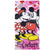 Disney Minnie & Mickey Mouse Girls Microfibre Beach Bath Towel 70 X 140 cm - Pink