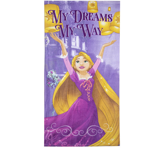 Disney Princess Girls Beach Bath Towel 70 X 140 cm made with Cotton Majority - Purple