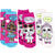 L.O.L. Surprise! lol Girls Socks 3-PACK Set Crew Anti-Slip Socks, Cotton Terry Fabric