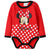 Disney Minnie Mouse Baby Girls Long Sleeve Bodysuit 100% Cotton 0-24 Months - Red
