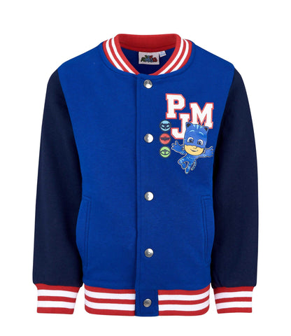 Pj Masks Boys Girls College Style Jacket, Jumper with Buttons 95% Cotton 3-8 Years - Blue