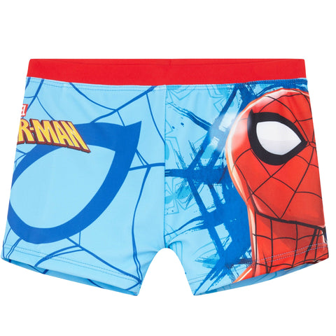 Spiderman Marvel Boys Swimming Boxers, Swimsuit Trunks 3-10 Years - Light Blue